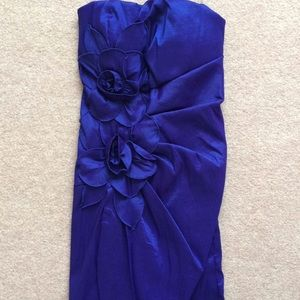Royal Blue dress with flower detail